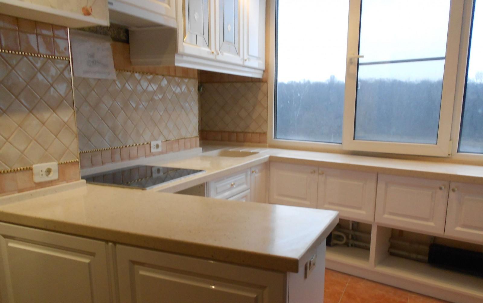 Дизайн кухни подоконник столешница